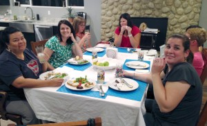 Nine women who attended the iHealth Tryazon party
