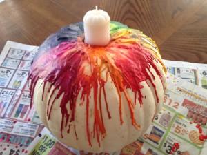 Melted Crayon Pumpkin Tutorial