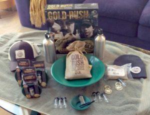 Gold Rush Panning kit & giveaways